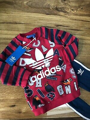 Baby Girls Adidas Originals Toddler Tracksuit Complete Top and Bottoms