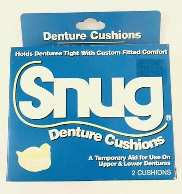 SNUG  Large Size Easy Fit Denture Cushions (1)box  With 2 cushions