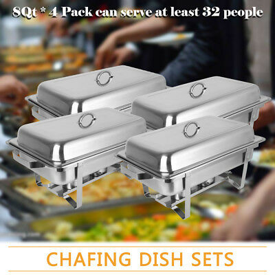 Chafing Dish 4 Pack Special Offer Catering Grade Stainless Steel Free Delivery