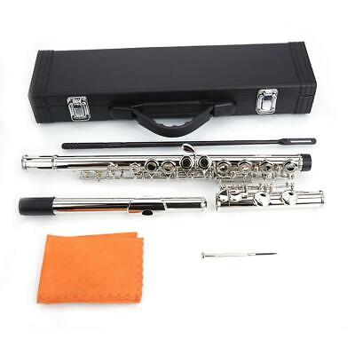 New School Band Student Instruments 16 Closed Hole C Tone Silver Color Flute