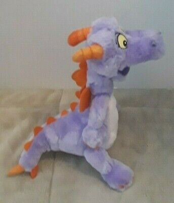 "Disney Parks FIGMENT of Imagination Purple Dragon 9"" Plush"