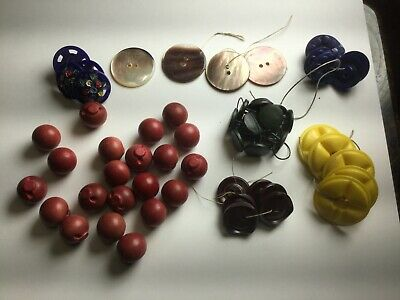 Lot of Antique Vintage BUTTONS Plastic Bakelite vintage matched sewing button
