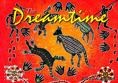 2020 The Dreamtime Big Print Wall Calendar by Bartel BP015