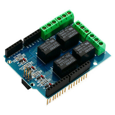 Four channel Relay Shield 5V 4 Channel Relay Shield Module for Arduino NEW