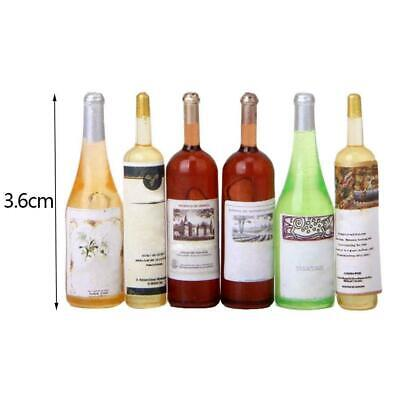 6Pcs Colorful Wine Bottles Dollhouse Miniature 1:12 Scale P4B8