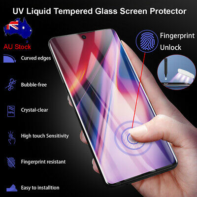 Samsung Galaxy Note 10 S10+ UV Liquid Full Cover Tempered Glass Screen Protector