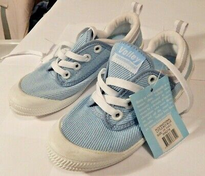 VOLLEY INTERNATIONAL YOUTH BABY BLUE CANVAS SNEAKER/SHOE Size US 3/UK 2