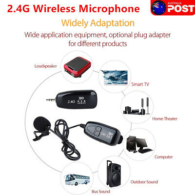 PRO 2.4G Wireless Microphone Lapel-on Voice Amplifier MIC Receiver +Transmitter