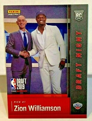 Zion Williamson 2018-19 Panini Instantáneo Draft Noche RC - Sp - Pelicans /