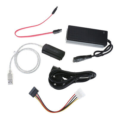 SATA/PATA/IDE Drive to USB 2.0 Converter Cable for HDD with External Power #gib