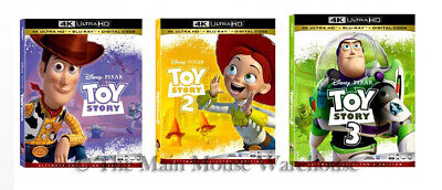 Disney Pixar Toy Story Trilogy Set 1 2 3 Movies 4K Blu-ray & Digital Copy Code