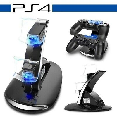 Dual USB Charger Docking Station Charging Stand For PS4 PlayStation4 Controller