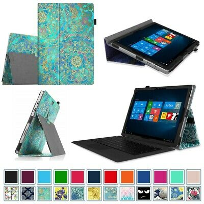 For Microsoft Surface Pro 6 / 5 / 4 / 3 Case Folio Stand Cover w/Stylus Holder