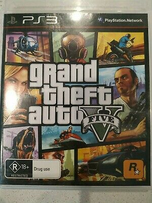 PS3 GRAND THEFT Auto V 5 Five Game and Manual - $12 95