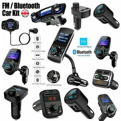 Car Bluetooth FM Transmitter Kit Wireless Handsfree USB MP3 Player Radio Charger