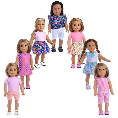 18 inch American Girl Doll Clothes Accessories Handmade Dress Doll Set #2