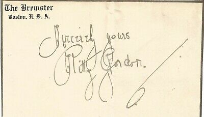Kitty Gordon signed piece approx 6 x 4 inches attached to A4, actress E1246
