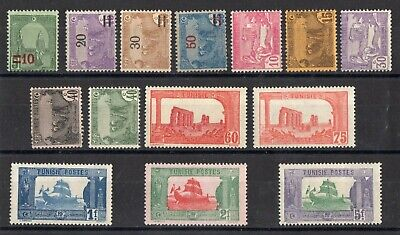 TUNISIE: SERIE COMPLETE DE 14 TIMBRES NEUF* N°96/109 Cote: 10,00 €