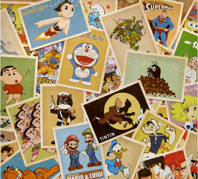 Retro Vintage Postcards Classic Cartoon Bulk Lot 32 PCS Cards Set Posters