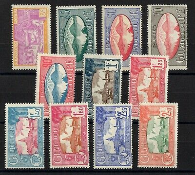 Guadeloupe: Serie Complete De 11 Timbres Neuf** N°147/157 C: 11,00€