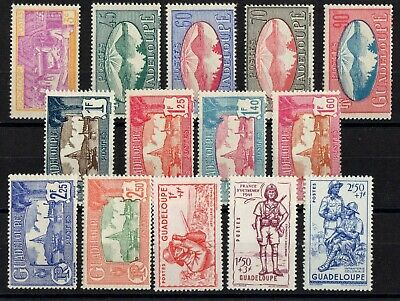 Guadeloupe: Serie Complete De 14 Timbres Neuf* N°147/160 C: 14,50€