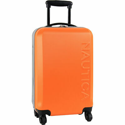 """Nautica Ahoy Hardside Spinner 21"""" Wheeled Suitcase Multiple Colors Available"""