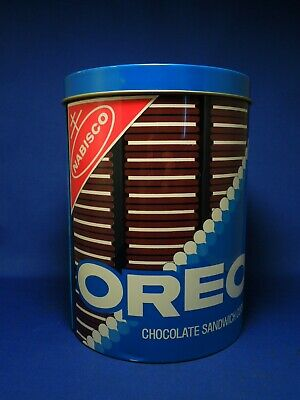 Vintage Retro Cheinco Nabisco Oreo Cookie Steel Can Canister