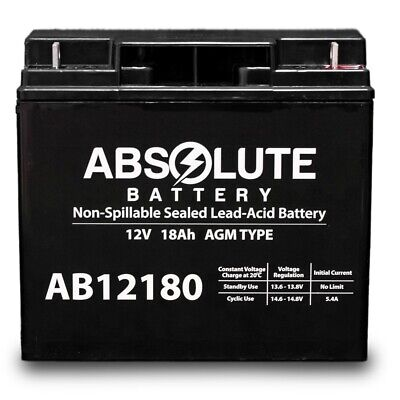 2 Pack 12V 8AH AB1280 F1 Battery Replacement for Minuteman MCP 10001