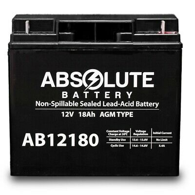 New Ab12180 12V 18Ah Jumper Pack Booster Box Battery Replacement