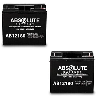 New 2 Pack Ab12180 12V 18Ah Jumper Pack Booster Box Battery Replacement