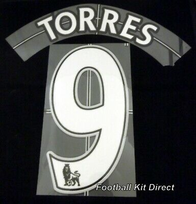 Liverpool Torres 9 Football Shirt Name Set Lextra 2007-13 Sporting ID Home