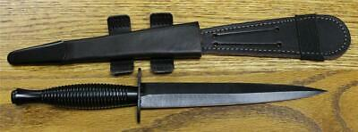 William Rodgers 180BMOD Fairbairn Sykes Commando Knife Black PRO SHARPENED NEW!