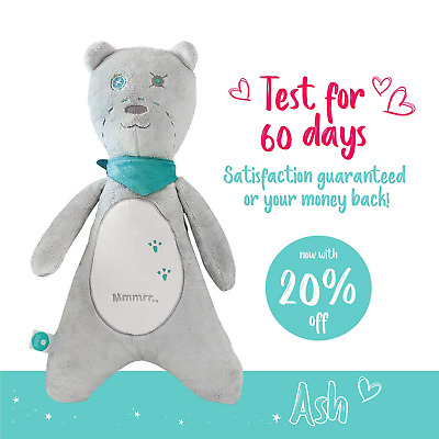 Baby Soother Teddy Bear by myHummy - Plush Sound Machine with 5 White Noise - 60
