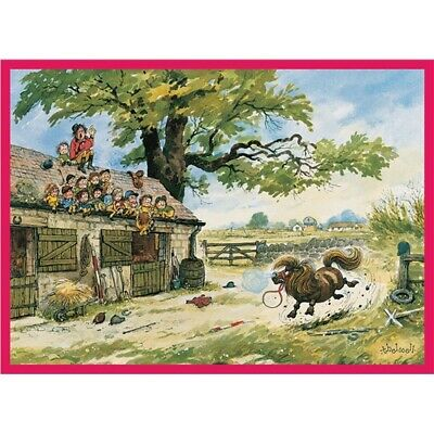 THELWELL Gentle Humour Pony Riding HIGHLY COMMENDED Blank Card