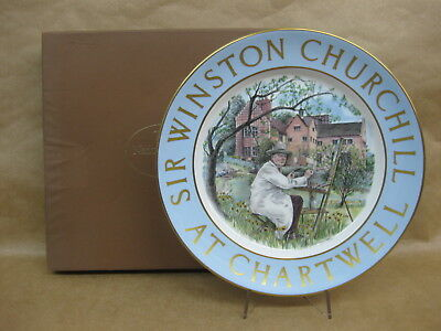 Sir Winston Churchill At Chartwell Fine China Plate ~ John Holder ~ Oakley~Boxed