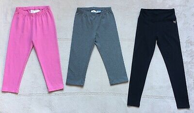 Hanna Andersson, Justice Girls Capri Leggings Size 140, Size 8, Pink, Gray Black