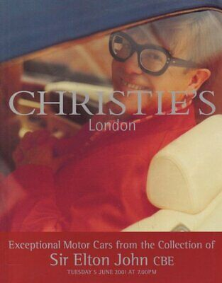 Christie's Exceptional Cars Collection Sir Elton John 6/5/01 Sale 6438  -P
