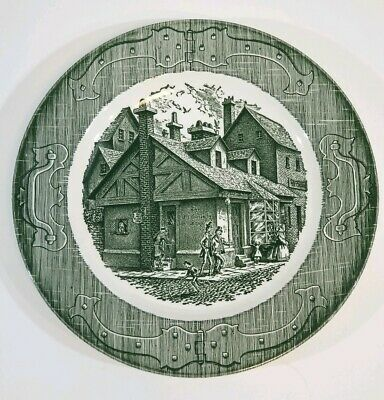 Royal China Green The Old Curiosity Shop Dinner Plate 10""