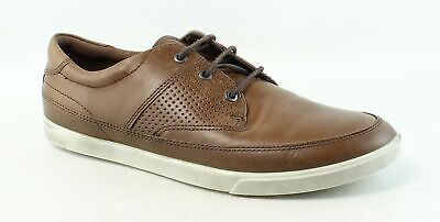 ECCO MENS COLLIN Nautical Sneaker Brown Fashion Sneaker EUR