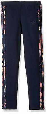 adidas Originals Big Girls Rose Leggings Legend Ink/Multi Rose Print BQ3979