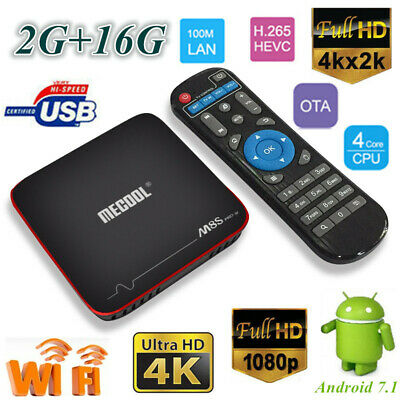 Smart M8S PRO W TV Box 2G+16G S905W Quad Core WiFi 4K 3D Media Player Android7.1