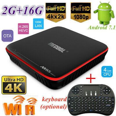 Lot M8S PRO W TV Box 2G+16G S905W Quad Core WiFi 4K Player Android7.1 + Keyboard