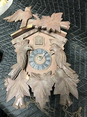 Vintage Cuckoo Clock Made In Germany For Repair Or Parts