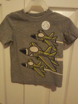 Jumping Beans Boys T-Shirt Size 18 MONTH Jets Graphic NWOT Gray