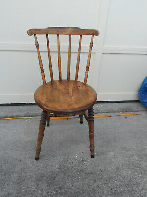 attractive antique wood  chair  1940's