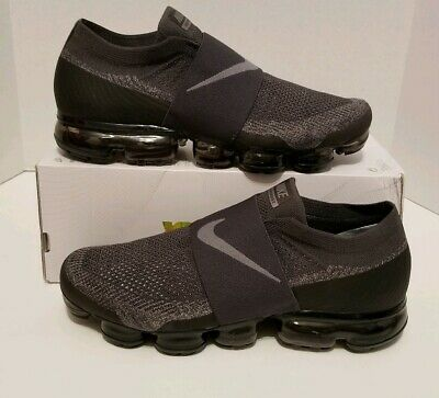Nike Air VaporMax Flyknit MOC Midnight Fog/Stuc Men's Sz 14 NEW AH3397 013 NOLID