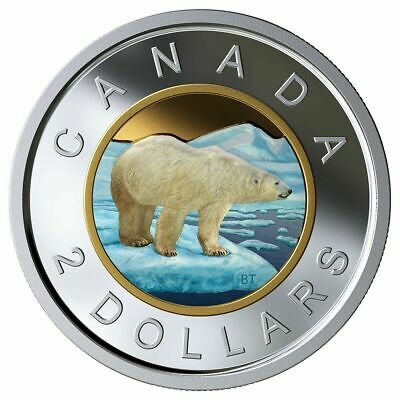 2019 Canada coloured toonie pure silver - from proof set - coin only-  in stock