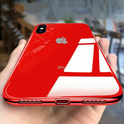 Per iPhone XS MAX X 8 7 6 Moda Vetro Temperato INDIETRO SLIM Custodia Case Cover