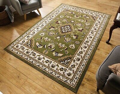 EXTRA LARGE TRADITIONAL CLASSIC GREEN BEIGE CREAM RUG 240x330cm