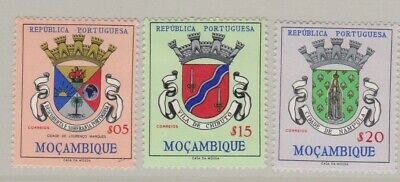 Mozambique 1961 Arms 3 values as shown, mint hinged